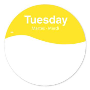 DAY1101082 - DayMark - 1101082 - MoveMark 3 in Round Tuesday Label Product Image