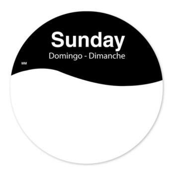 DAY1101087 - DayMark - 1101087 - MoveMark 3 in Round Sunday Label Product Image