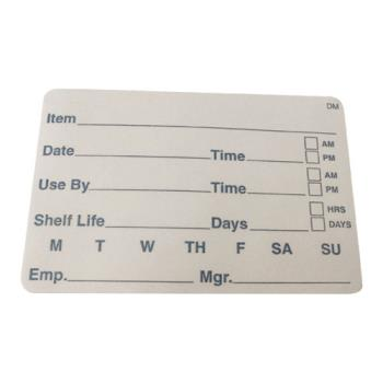 81418 - Daymark - 110116 - DissolveMark 2 in X 3 in Shelf Life Labels Product Image