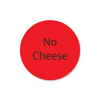 DAY111238 - DayMark - 111238 - DuraMark 1 in Round No Cheese Label Product Image