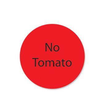 DAY111240 - DayMark - 111240 - DuraMark 1 in Round No Tomatoes Label Product Image