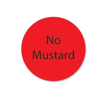 DAY111241 - DayMark - 111241 - DuraMark 1 in Round No Mustard Label Product Image