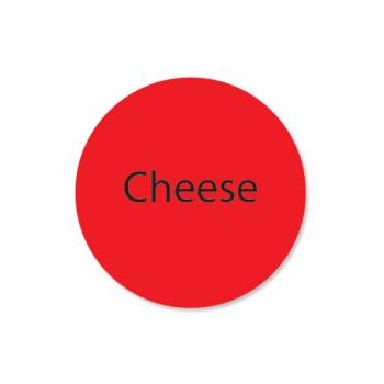 DAY111243 - DayMark - 111243 - DuraMark 1 in Round Cheese Label Product Image