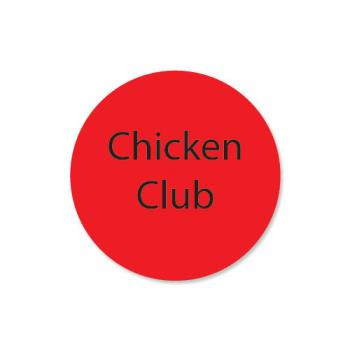 DAY111247 - DayMark - 111247 - DuraMark 1 in Round Chicken Club Label Product Image
