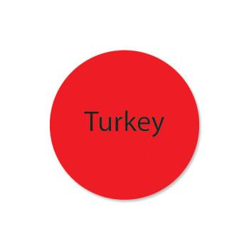 DAY111253 - DayMark - 111253 - DuraMark 1 in Round Turkey Label Product Image