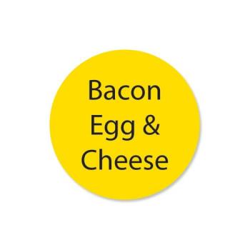 DAY111258 - DayMark - 111258 - DuraMark 1 in Round Bacon Egg and Cheese Label Product Image
