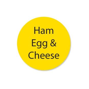 DAY111260 - DayMark - 111260 - DuraMark 1 in Round Ham Egg and Cheese Label Product Image