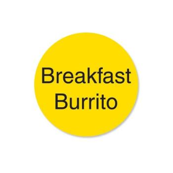 DAY112017 - DayMark - 112017 - DuraMark 1 in Round Breakfast Burrito Deli Label Product Image