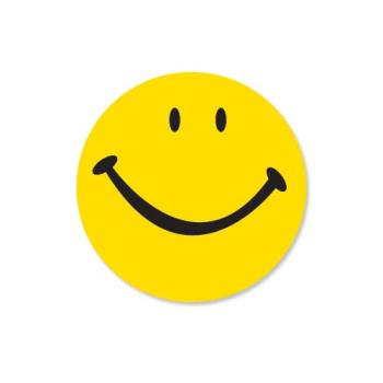 DAY112018 - DayMark - 112018 - DuraMark 1 in Round Smiley Face Deli Label Product Image