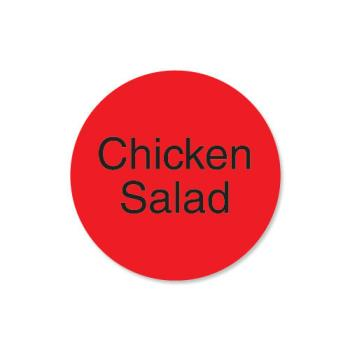 DAY112054 - DayMark - 112054 - DuraMark 1 in Round Chicken Salad Label Product Image