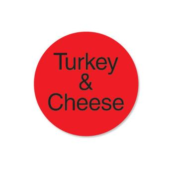 DAY112174 - DayMark - 112174 - DuraMark 1 in Round Turkey and Cheese Label Product Image