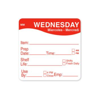 DAY1122123 - DayMark - 1122123 - MoveMark 2 in x 2 in Wednesday Shelf Life Label Product Image