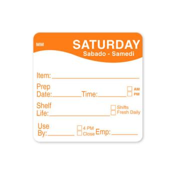 DAY1122126 - DayMark - 1122126 - MoveMark 2 in x 2 in Saturday Shelf Life Label Product Image
