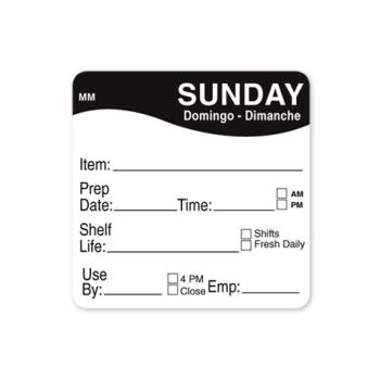 DAY1122127 - DayMark - 1122127 - MoveMark 2 in x 2 in Sunday Shelf Life Label Product Image
