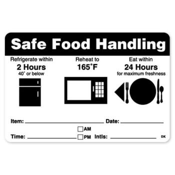 DAY112420 - DayMark - 112420 - DuraMark 2 in x 3 in Safe Food Handling Label Product Image