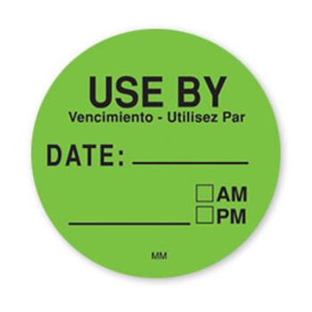 DAY112431 - DayMark - 112431 - MoveMark 3 in Round Green Use By Label Product Image