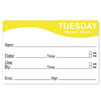 DAY1124672 - DayMark - 1124672 - ReMark 2 in x 3 in Tuesday Label Product Image