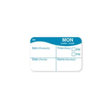 DAY1124701 - DayMark - 1124701 - DissolveMark 1 in x 1 1/2 in Monday Label Product Image