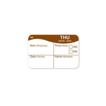 DAY1124704 - DayMark - 1124704 - DissolveMark 1 in x 1 1/2 in Thursday Label Product Image