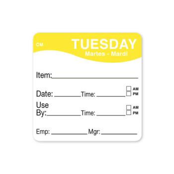 DAY1127822 - DayMark - 1127822 - CoolMark 2 in x 2 in Tuesday Label Product Image