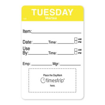 DAY1128622 - DayMark - 1128622 - MoveMark 2 in x 3 in Tuesday Shelf Life Label Product Image