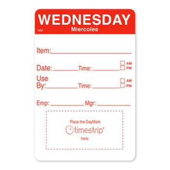 DAY1128623 - DayMark - 1128623 - MoveMark 2 in x 3 in Wednesday Shelf Life Label Product Image