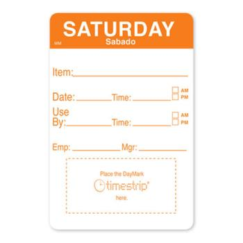 DAY1128626 - DayMark - 1128626 - MoveMark 2 in x 3 in Saturday Shelf Life Label Product Image