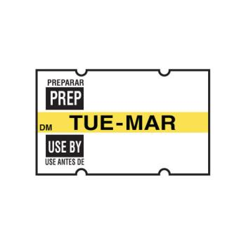 DAY1130012 - DayMark - 1130012 - DissolveMark DM 2 Line Tuesday Prep/Use By Label Product Image