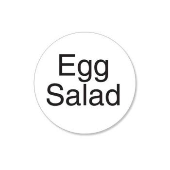 DAY113213 - DayMark - 113213 - DuraMark 1 in Round Egg Salad Label Product Image
