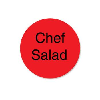DAY113340 - DayMark - 113340 - DuraMark 1 in Round Chef Salad Label Product Image