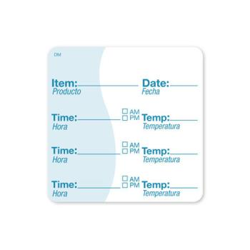 DAY113621 - DayMark - 113621 - DissolveMark 2 in x 2 in Item/Date/Time/Temp Label Product Image