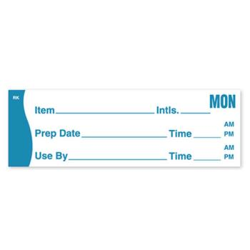 DAY1142801 - DayMark - 1142801 - ReMark 1 in x 3 in Prep/Use By Monday Label Product Image