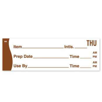DAY1142804 - DayMark - 1142804 - ReMark 1 in x 3 in Prep/Use By Thursday Label Product Image