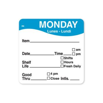 DAY1142821 - DayMark - 1142821 - ReMark 2 in x 2 in Monday Label Product Image