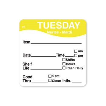 DAY1142822 - DayMark - 1142822 - ReMark 2 in x 2 in Tuesday Label Product Image