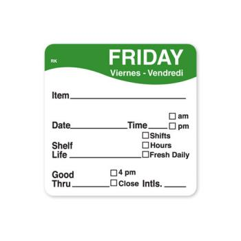 DAY1142825 - DayMark - 1142825 - ReMark 2 in x 2 in Friday Label Product Image