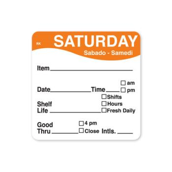 DAY1142826 - DayMark - 1142826 - ReMark 2 in x 2 in Saturday Label Product Image