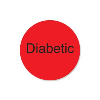 DAY114722 - DayMark - 114722 - DuraMark 1 in Round Diabetic Label Product Image