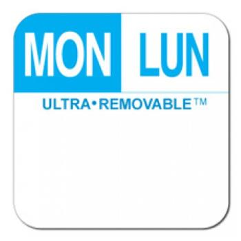 81714 - Dot-It - U552 - 1 in Ultra-Removable™ Square Monday Label Product Image