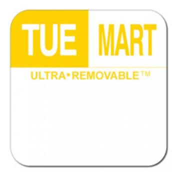 81715 - Dot-It - U553 - 1 in Ultra-Removable™ Square Tuesday Label Product Image