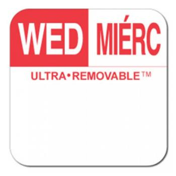 81716 - Dot-It - U554 - 1 in Ultra-Removable™ Square Wednesday Label Product Image