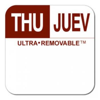 81717 - Dot-It - U555 - 1 in Ultra-Removable™ Square Thursday Label Product Image