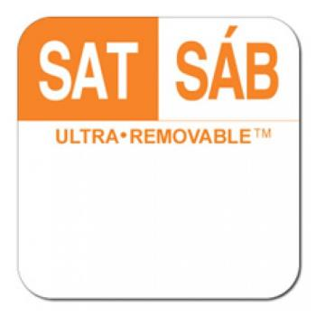 81719 - Dot-It - U557 - 1 in Ultra-Removable™ Square Saturday Label Product Image