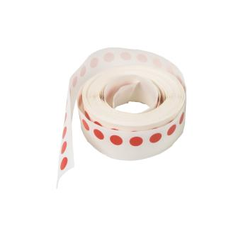 76136 - Ecolab - 11006-03-00 - 1/4 in Red Wednesday Day Dot Roll Product Image