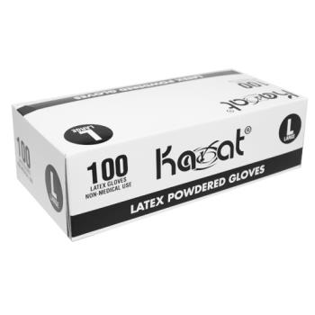 81521 - Karat - FP-GL1013 - Large Latex Disposable Powdered Gloves Product Image