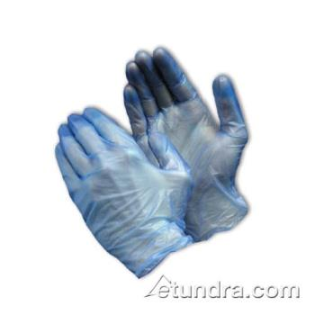 PIN64V77BM - PIP - 64-V77B/M - Blue 5 mil Vinyl Gloves (M) Product Image