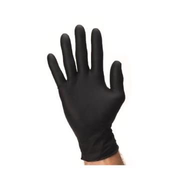 21243 - SureCare - NPFT2420 - Small Powder Free Black Nitrile Gloves Product Image