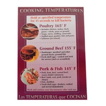 38571 - Commercial - Cooking Temperature Food Safety Poster Product Image