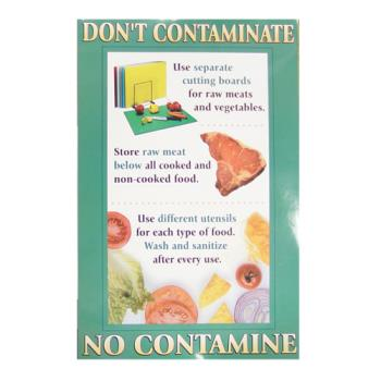 38572 - Commercial - Don't Contaminate Food Safety Poster Product Image