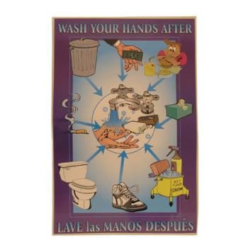 38574 - Commercial - Wash Hands After Food Safety Poster Product Image